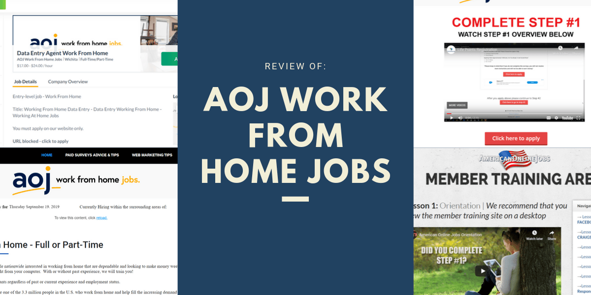 AOJ Work From Home Jobs Scam