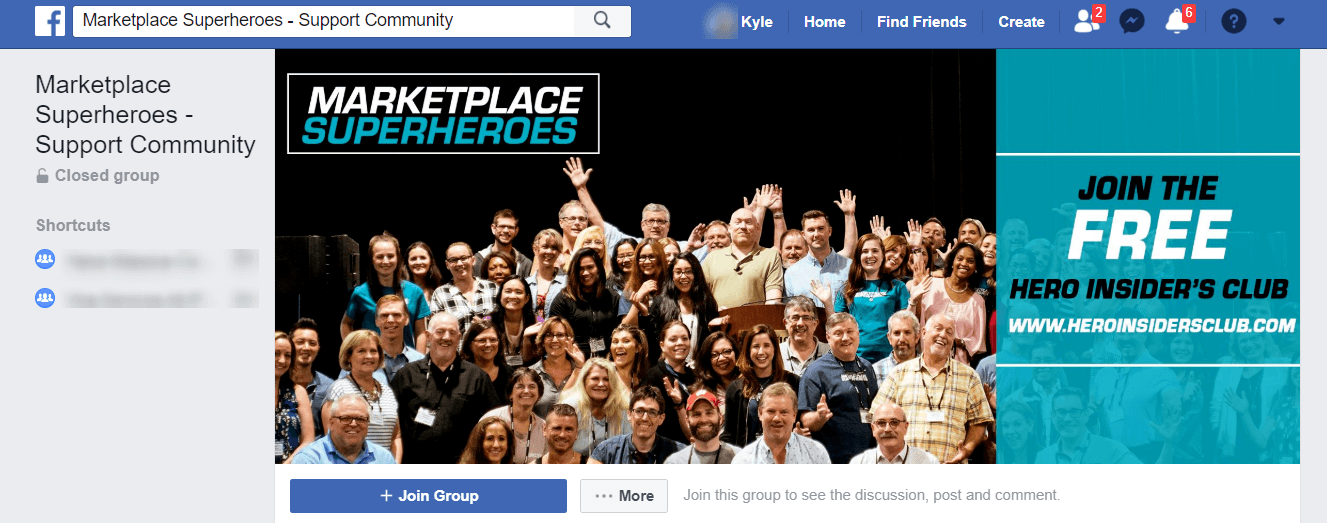 Marketplace Superheroes Facebook