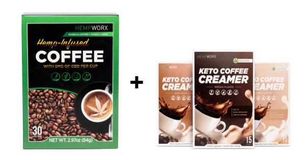 HempWorx coffee and creamer