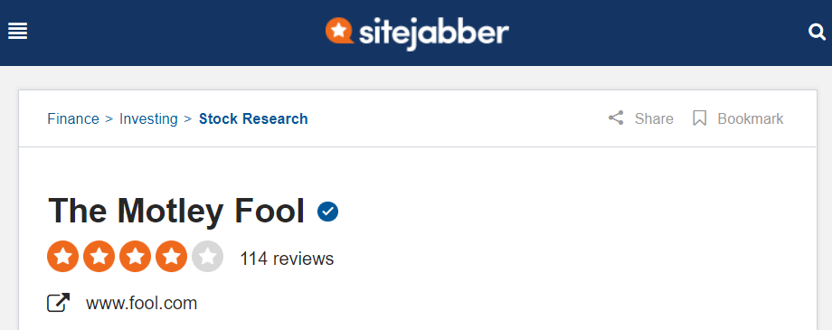 SiteJabber Motley Fool Reviews