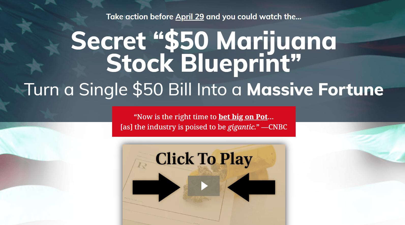 The $50 Marijuana Blueprint
