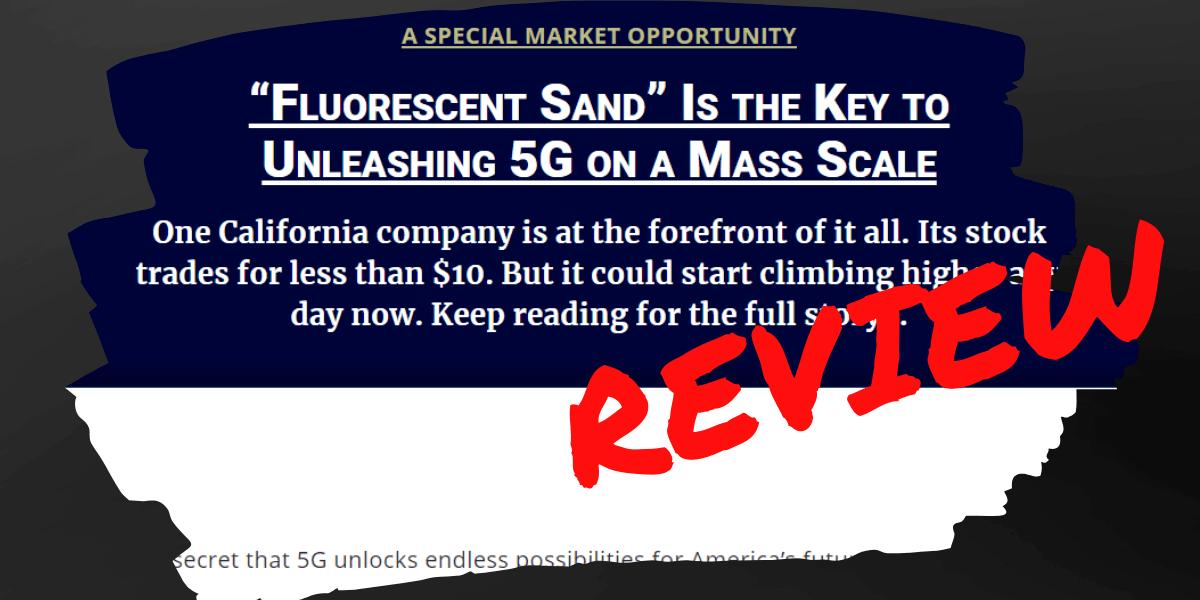 Ian King Fluorescent Sand Stock